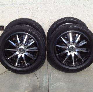20 inch Helo HE851 black wheels rims and tires For Equinox Terrain