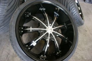 24 inch Black Chrysler 300 C Dodge Charger Wheels Rims