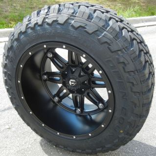 22 Black Fuel Hostage Wheels Rims 37 Toyo Open Country MT Tires Ford
