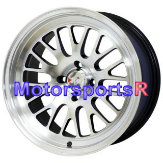 16 16x8 XXR 531 Machine Black Wheels Rims Deep Dish 4x114 3 Stance Lip