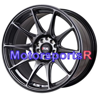 Chromium Black Staggered Rims Wheels Concave 5x114 3 08 Nissan 350z