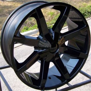 24x9 5 Black KMC Slide Wheels Rim Escalade Silverado GMC Sierra Ford