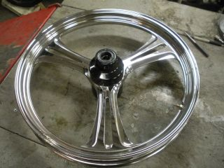 21 by 2 75 Chrome Front Wheel for 86 99 Harley Davidson Wide Glide