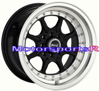 15 15x8 XXR 002 Black Rims Deep Dish Wheels Stance Datsun 240z 260z