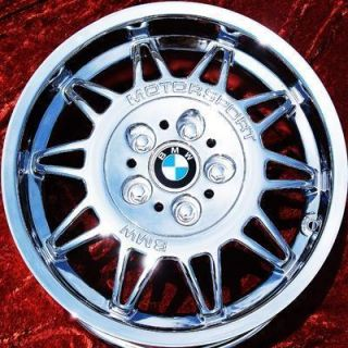 SET OF 4 NEW 17 BMW M3 MOTORSPORT E36 OEM CHROME WHEELS RIMS EXCHANGE