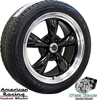 17 BLACK AMERICAN RACING THRUST WHEELS RIMS & TIRES CHEVY C4 CORVETTE