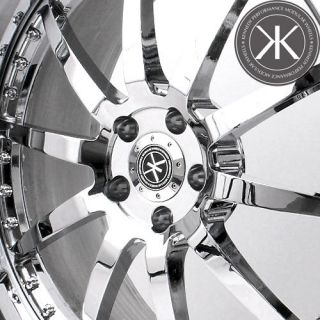 21 Chrome Kennedy Performance Custom 3 Piece Forged Wheels Rims