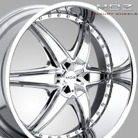 22 MOZ Chrome Rims Wheels Ford Lincoln F150 6x135