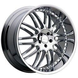 22 inch Menzari Z10 Chrome Wheels Rims 5x120 25 BMW 5 6 7 Series Range