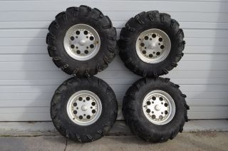 Am Renegade 800 EFI Front & Rear Wheels Rims & 27 Itp Mudlite Tires