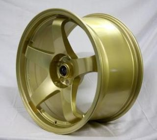 Rota P 45R 18x9 5 5x114 3 30 Tommy Gold Rims Wheels