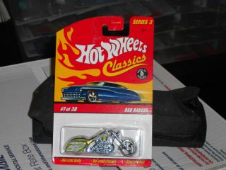 Hot Wheels Classics Series 3 Bad Bagger Bike Lime Green 7 30 Diecast