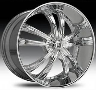 30 Lexani LSS 55 Wheel Set Chrome 5LUG 6LUG Lexani Rims for SUV