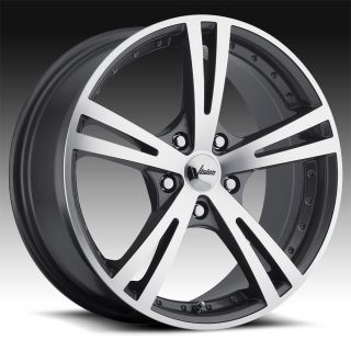 Gunmetal Machined Vision Xcite 463 Wheels Rims 5 Lug 16x7 5 34
