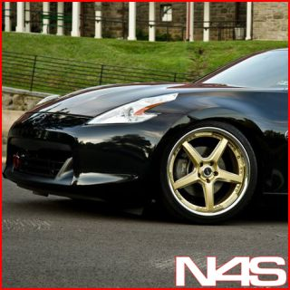 New 20 Nissan 370Z Vertini Drift Gold Staggered Wheels Rims