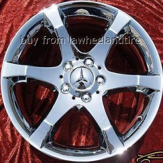 NEW 17 MERCEDES BENZ C230 C350 C32 AMG OEM CHROME WHEELS RIMS 65436