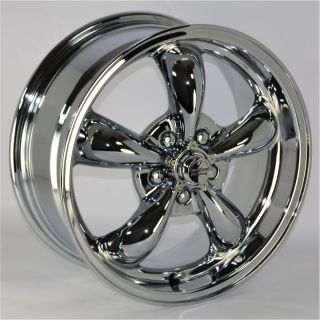 16x7 Chrome 5 Spoke Wheels Rims 5x115 mm Lug Pattern 35mm Offset