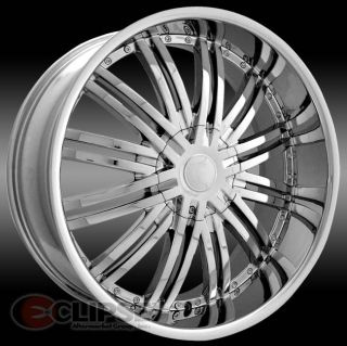 28 inch ELR19 Chrome Wheels Dodge Durango 2004 Newer