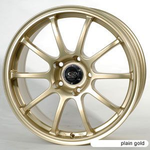 18 Rota G Force Gold Rims Wheels evo8 EVO9 EVO 8 9 10 X