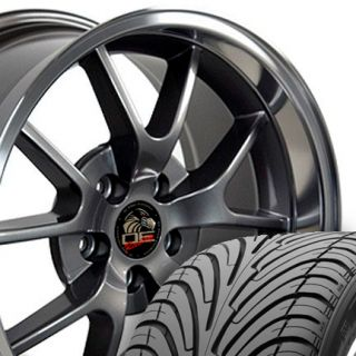 Anthracite FR500 Style Wheels Nexen Tires Rims Fit Mustang® 94   04