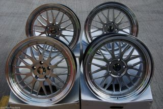 18 LM Mesh Alloy Wheels Fit BMW 5 Series E34 Saloon