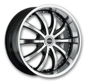 20 inch Strada Sole Black Wheels Rims 5x100 40