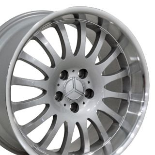 18 8 9 Silver Wheel Set of 4 Rims Fit Mercedes C E S Class SLK CLK CLS