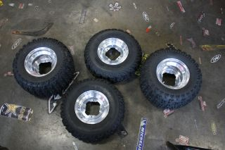 DS 650 Wheel and Tire Package Front and Rear Rims Tires Mounted