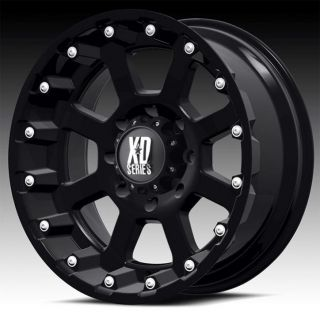20 inch 20x10 KMC XD Black Wheels Rims 8x170 Ford F250 350 Excursion