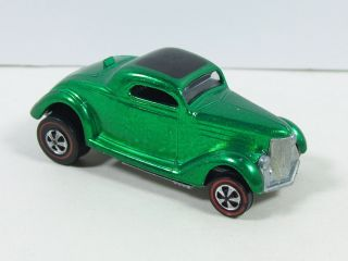 Hot Wheels REDLINE CLASSIC 36 FORD COUPE 1968 W 4 BUTTON RUMBLE SEAT