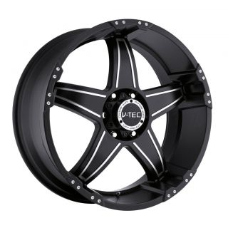 17 inch V Tec Wizard Black Wheels Rims 6x135 12 6 Lug Ford F150