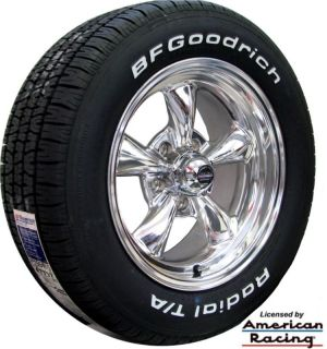 15x7 15x8 POLISHED REV CLASSIC 100 WHEELS BFG TIRES 1955 CHEVY BEL AIR
