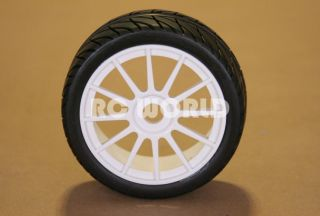 RC 1 8 Car Buggy Truck Tires Wheels Rims Package Street Tread