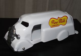 1930s Marx Dairy Milk Truck Wood Wheels