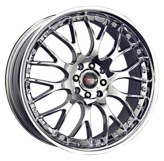 18 Drag DR19 Chrome Rims Wheels 18x7 5 45 5x100 Subaru WRX Impreza