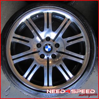 19 BMW Factory E46 M3 Staggered Wheels Rims Michelin Tires