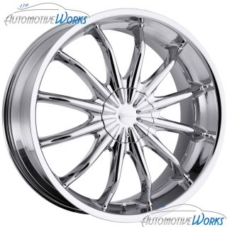 Milanni Baron 5x115 5x120 36mm Chrome Wheels Rims inch 20