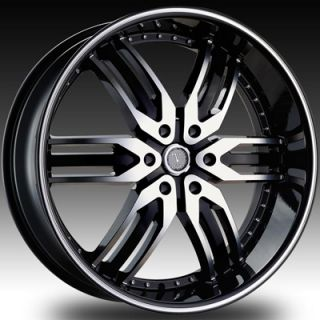 26 Velocity 125 Black Wheels Rims Tires Chevy Tahoe Saburban GMC Yukon