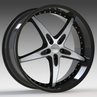 Milanni ZS 1 Black Mach 5x4 5 w 38 Et 453 2865MF38 Wheels Rims