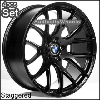 20inch M111 Black BMW Wheels Staggered Rims Concave