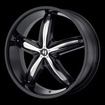 22 Helo HE844 Rims Wheels Black 22x8 5 45 5x108