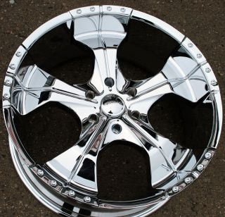 Panther Realm 280 22 Chrome Rims Wheels Toyota Tacoma Tundra 6H