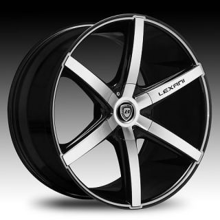 17 18 20 22 Wheels Tires Lexani R Six Black Mach Audi A4 A6 A8 AWD