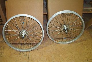 Wheels 48 Spoke 14mm Axles 16T Freewheel Weinman Alloy Rims