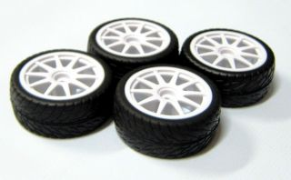 10 Wheels Tires Rims for Associated Kyosho HPI 1 16 Traxxas Mustang