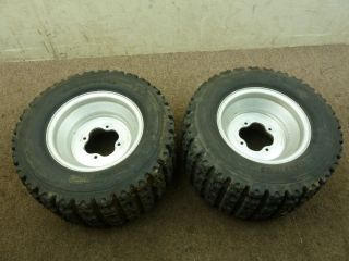 2002 02 Yamaha Raptor 660 Rear Wheels Rims Tires Set