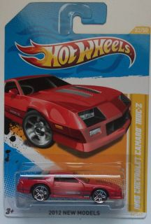 2012 Hot Wheels New Models 1985 Chevrolet Camaro Iroc Z 22/50 (Red