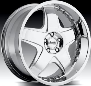18x8 Advanti Racing Martelo 5x112 45 Chrome Rims Wheels Fit VW Golf