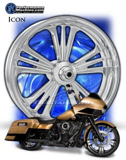 Performance Machine Icon Chrome Motorcycle Wheels Harley Streetglide