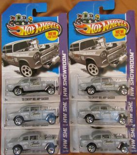 2013 Hot Wheels 55 Chevy Bel Air Gasser B Case Six 6